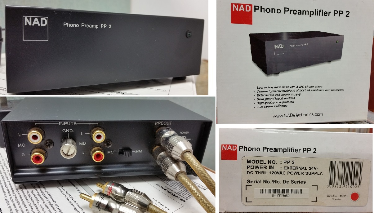 Nad Phono Preamplifier Pp2 Used Only 2 Times To Transfer Vinyl Pre Amplifier Audiophile